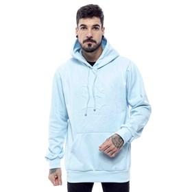 Blusa Moletom Blck Logo Azul Claro