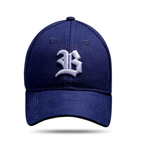 Boné Baseball Hard Hat Azul Marinho Logo Branco