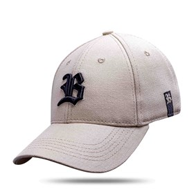Boné Baseball Hard Hat Basic Bege Logo Preto