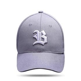 Boné Baseball Hard Hat Basic Cinza Logo Branco