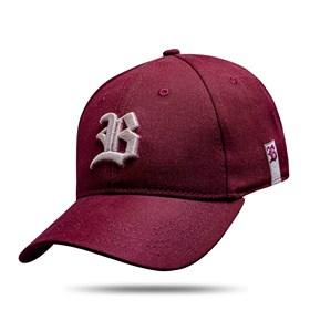 Boné Baseball Hard Hat Basic Vinho Logo Bege