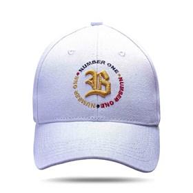 Boné Baseball Hard Hat Circulo Number One Branco