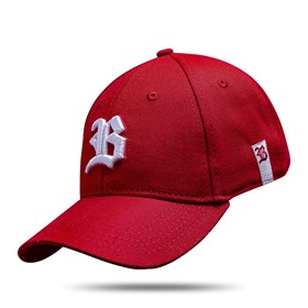 Boné Baseball Hard Hat Vermelho Logo Branco