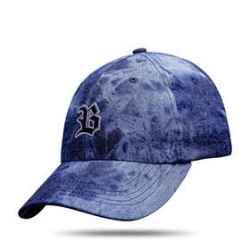 Boné Dad Hat Basic Logo Jeans Escuro