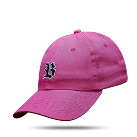 Boné Dad Hat Basic Logo Rosa Fluor
