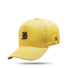 Boné Kids Snapback Basic Amarelo Logo Preto