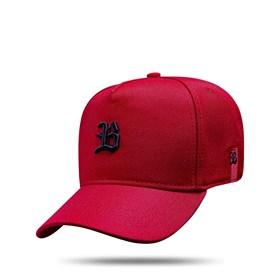 Boné Kids Snapback Basic Vermelho Logo Preto