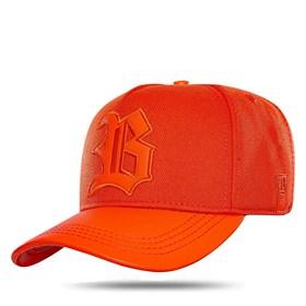 Boné Snapback Aba Couro Basic Orange