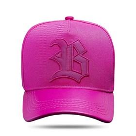 Boné Snapback Aba Couro Pink Escuro