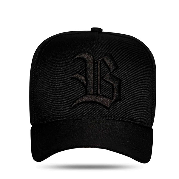 Boné Snapback All Black Graffiti