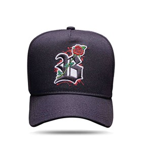 Boné Snapback All Black Logo Roses