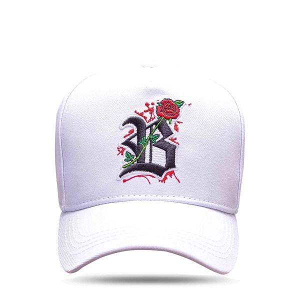 Boné Snapback All White Roses