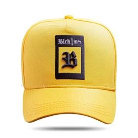 Boné Snapback All Yellow Logo Square Black White