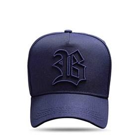 Boné Snapback Basic All Blue Dark Logo Contour