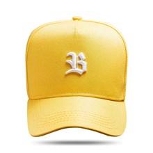 Produto Boné Snapback Basic Amarelo Logo Branco