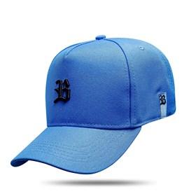 Boné Snapback Basic Azul Celeste Logo Preto