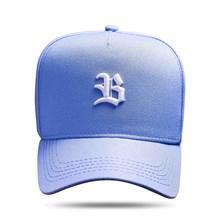 Produto Boné Snapback Basic Azul Claro Logo Branco