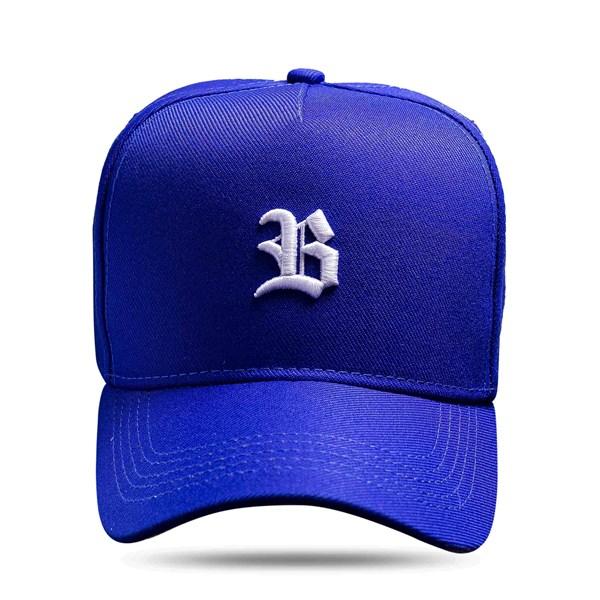 Boné Snapback Basic Azul Royal Logo Branco