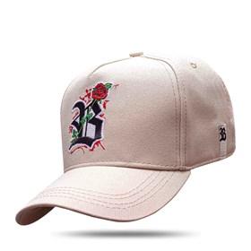 Boné Snapback Basic Bege Logo Roses