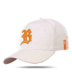 Boné Snapback Basic Colored White Logo Orange