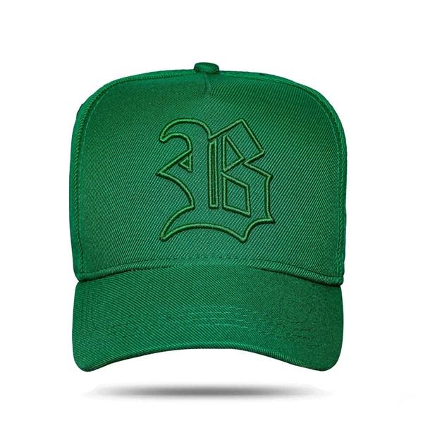 Boné Snapback Basic Countour Logo Green