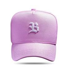 Produto Boné Snapback Basic Rosa Logo Branco