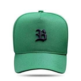 Boné Snapback Basic Verde Bandeira Logo Preto