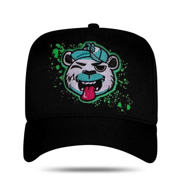 Boné Snapback Bear Logo Resping Black