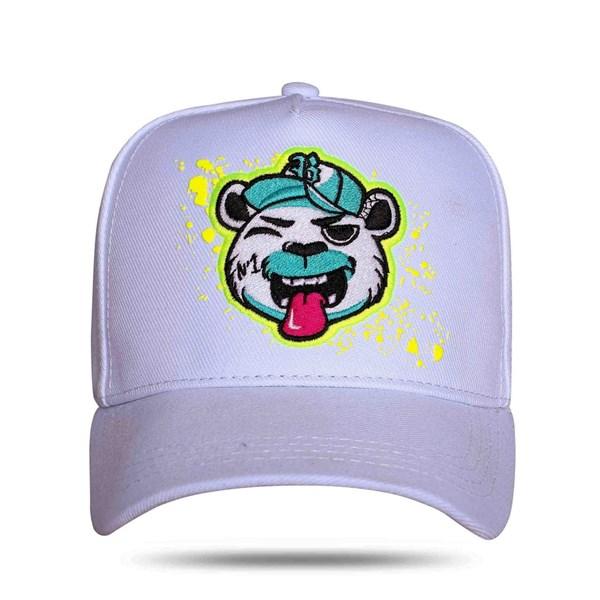 Boné Snapback Bear Logo Resping White