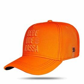 Boné Snapback Bebe Que Passa Orange Fluor