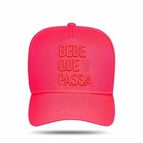 Boné Snapback Bebe Que Passa Pink Fluor