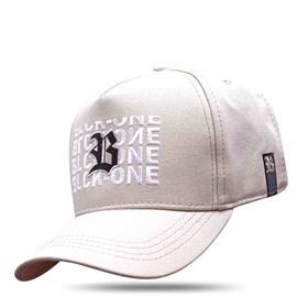 Boné Snapback Bege Logo Black Inverted