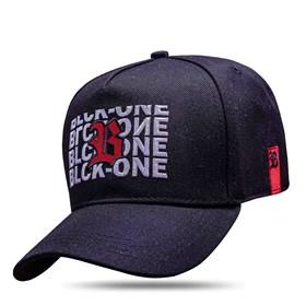 Boné Snapback Black Logo Red Inverted