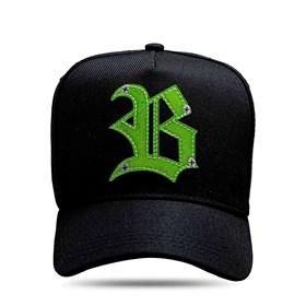 Boné Snapback Black Logo Screw Green