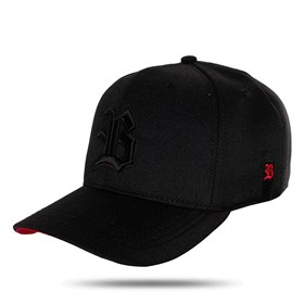 Boné Snapback Black to Red