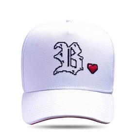 Boné Snapback Branco Logo Heart Side