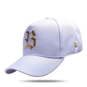 Boné Snapback Branco Logo Holografic Dourado