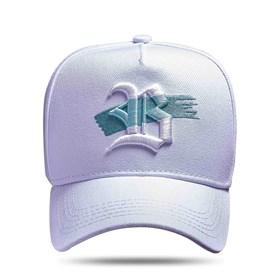 Boné Snapback Branco Logo Strip Verde