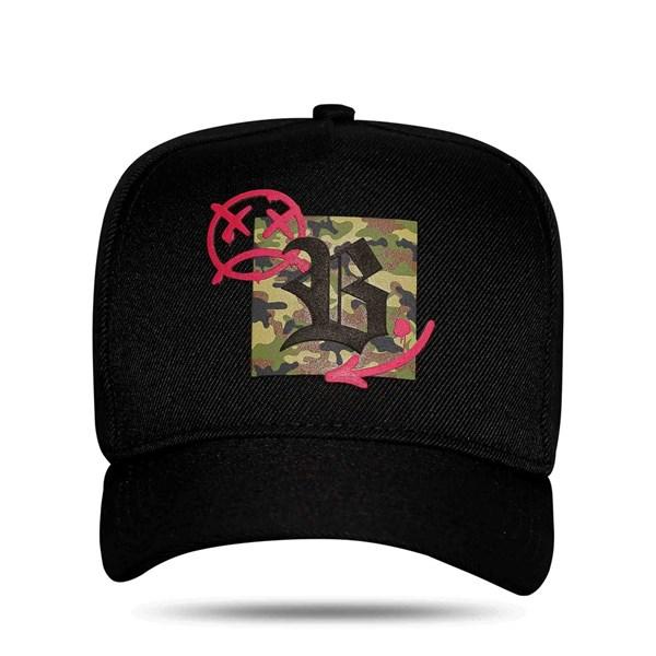 Boné Snapback Camouflage Black