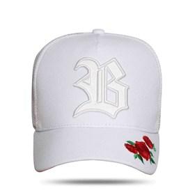 Boné Snapback Edition Roses White