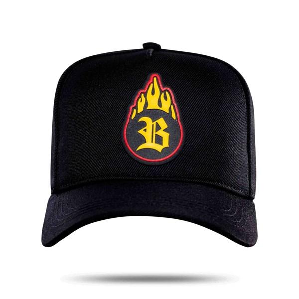 Boné Snapback Fireball Black