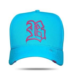 Boné Snapback Fluor Pink Blue