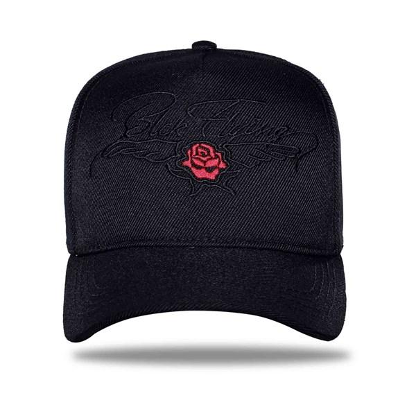 Boné Snapback Flying Rose Black