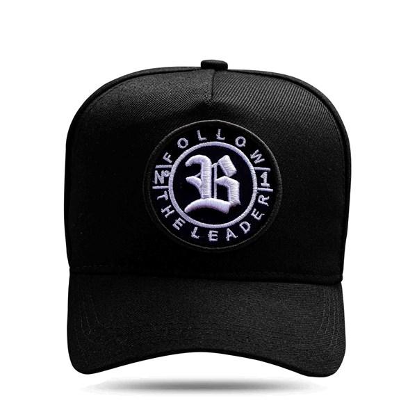 Boné Snapback follow All Black Logo White