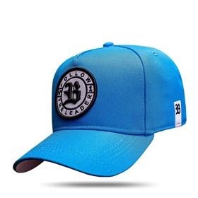 Boné Snapback Follow All Blue Logo Black