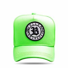 Boné Snapback Follow All Green Flúor Logo Black