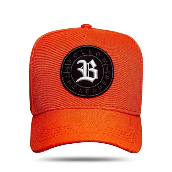 Boné Snapback Follow All Orange Logo White