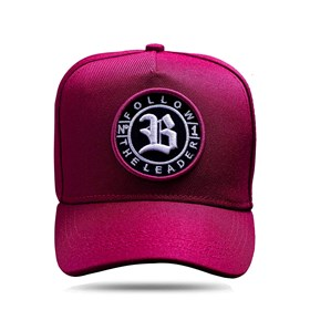 Boné Snapback Follow All Wine Logo White