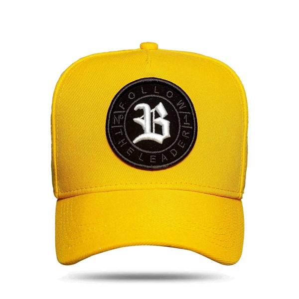 Boné Snapback Follow All Yellow Logo White