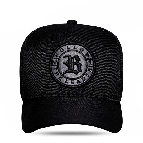 Boné Snapback Follow Logo All Black